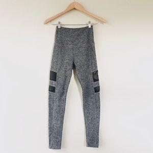Beyond Yoga Gray Space Dye Mesh Panel Leggings